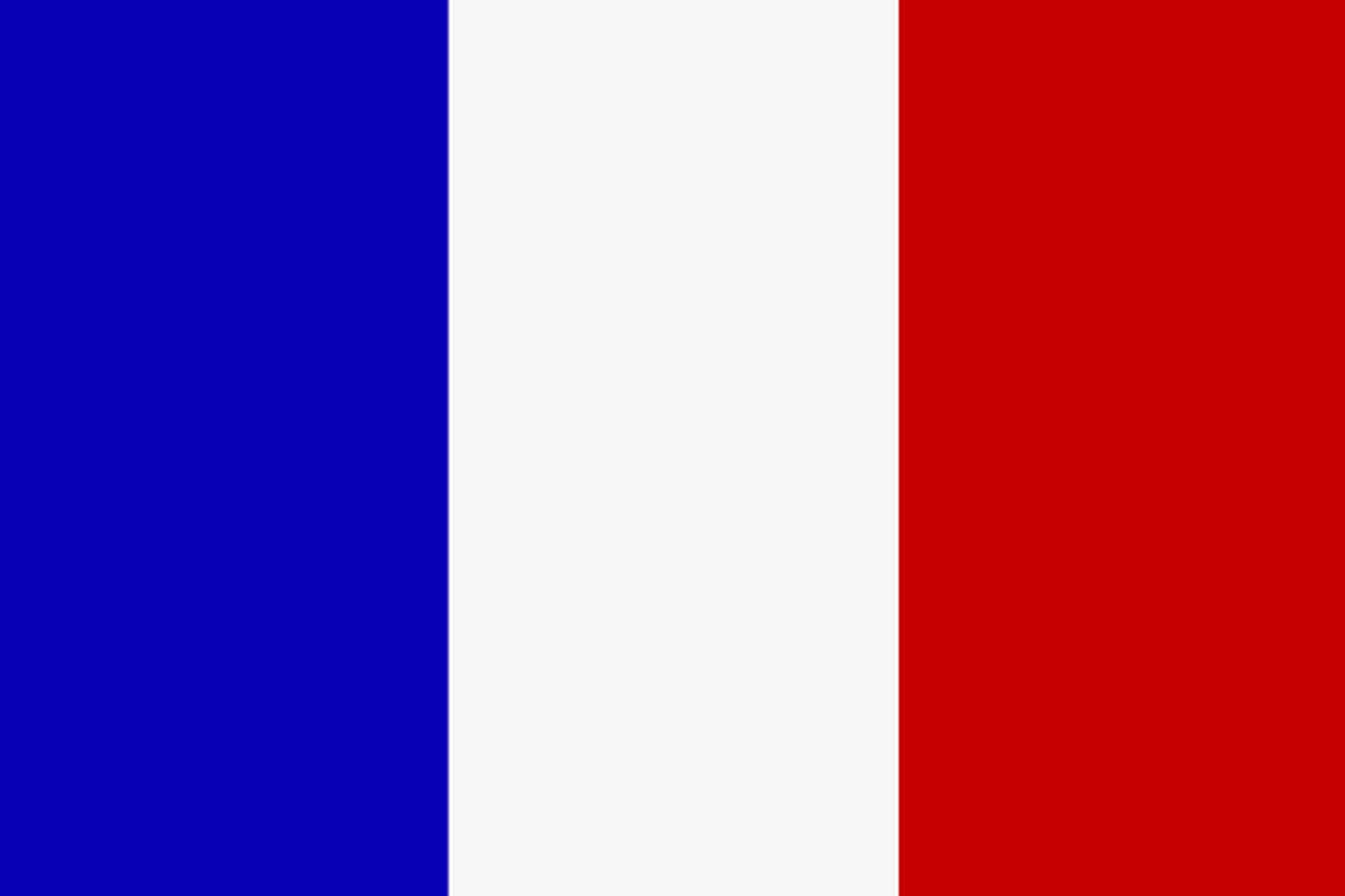 Colori della bandiera francese - Bandiere bianche a colori ...