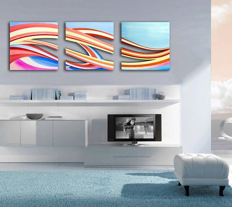 Preferenza Abbinare i colori dei quadri a pareti e arredo ZX23
