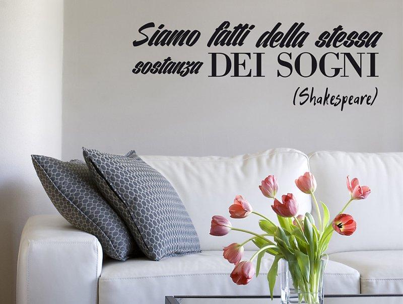 Adesivi murali frasi celebri per arredare casa - Scritte sui muri di casa ...