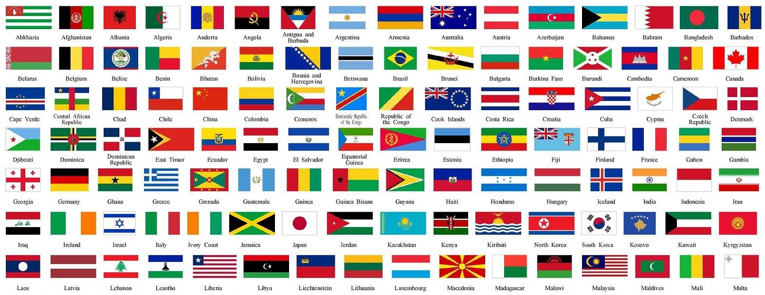 Colori bandiere - Bandiere bianche a colori ...