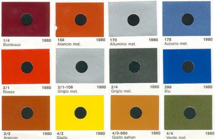 vespa 50 r colori originali