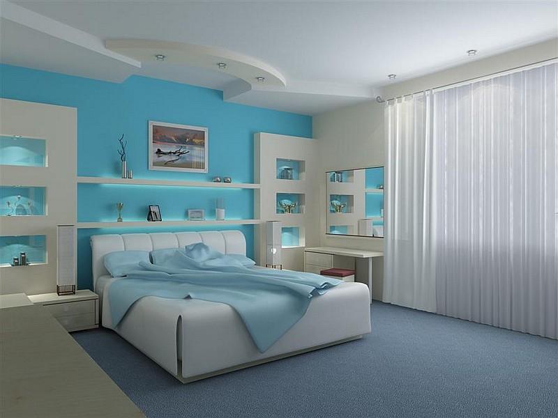 Colori delle tende di casa abbinamenti - Pareti camera da letto colorate ...