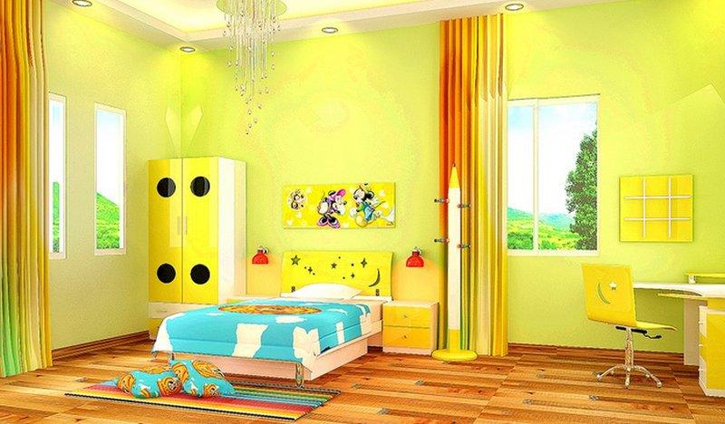 Camerette per bambini colori pareti for Colori camerette