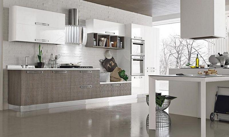 Come scegliere i colori delle pareti per ogni ambiente - Cucina grigio tortora ...