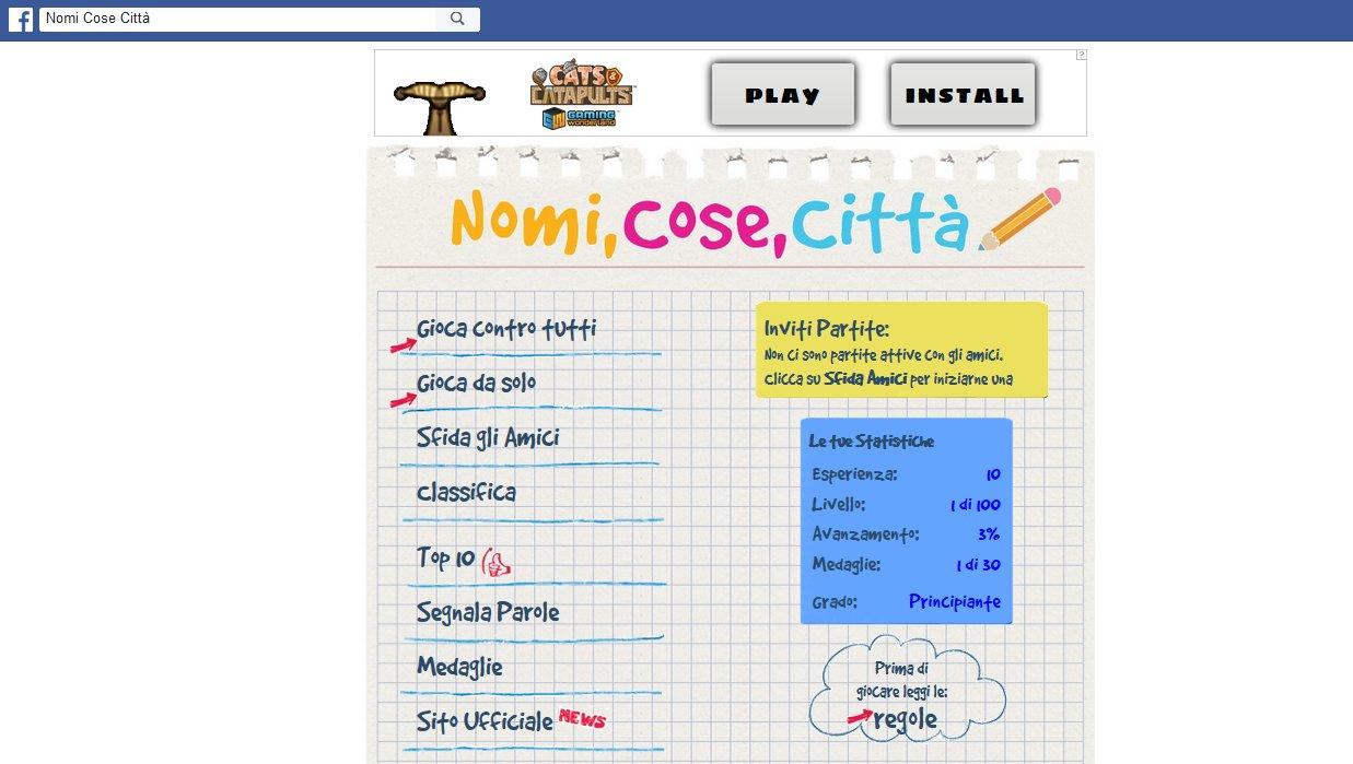 Nomi cose citt gioco online regole suggerimenti for Cose con la s