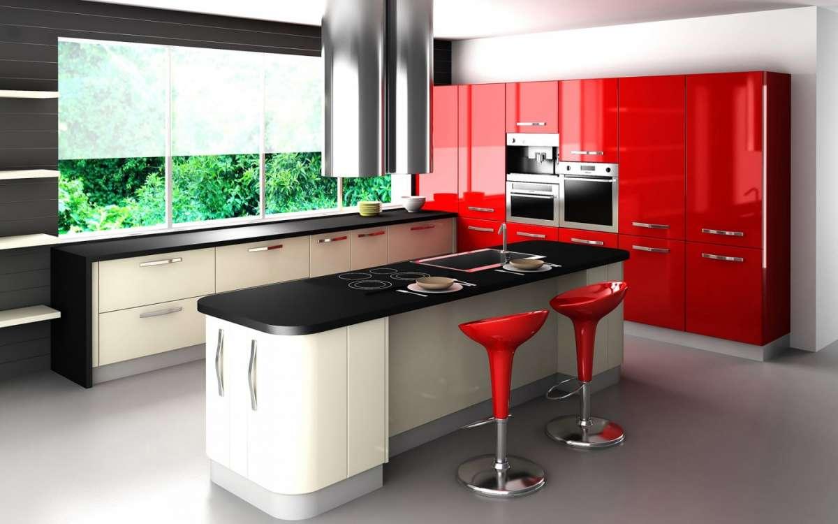 Colori Pareti Cucina Moderna Bianca. Cucina Lineare Bianca Con Gola ...