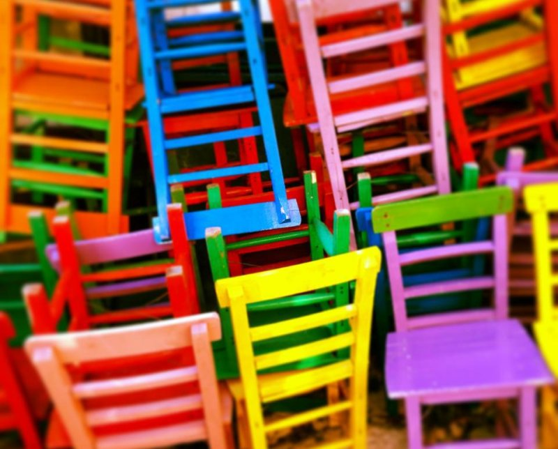 Sedie colorate for Sedie legno colorate