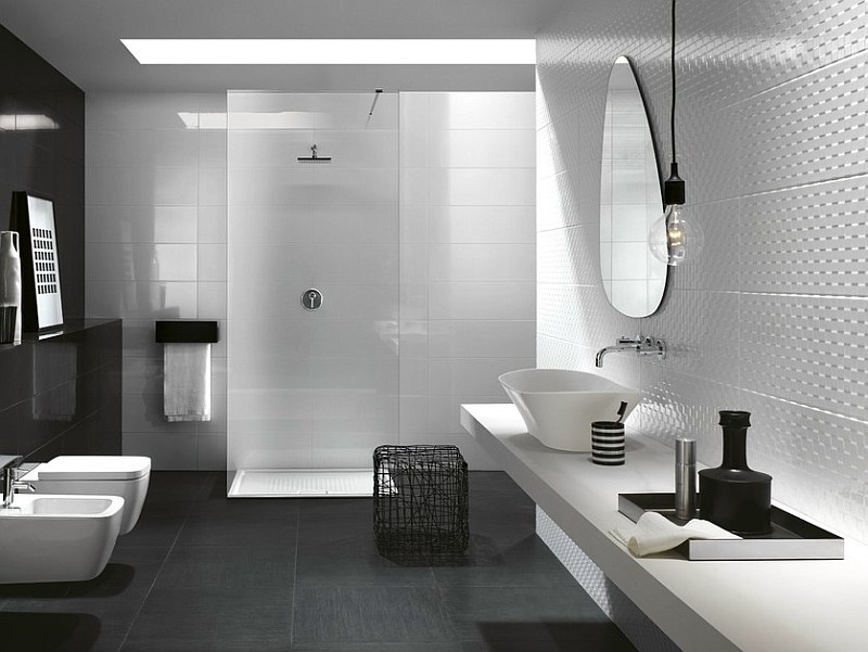 Bagno Moderno Bianco E Nero.Bagno Moderno Nero E Bianco