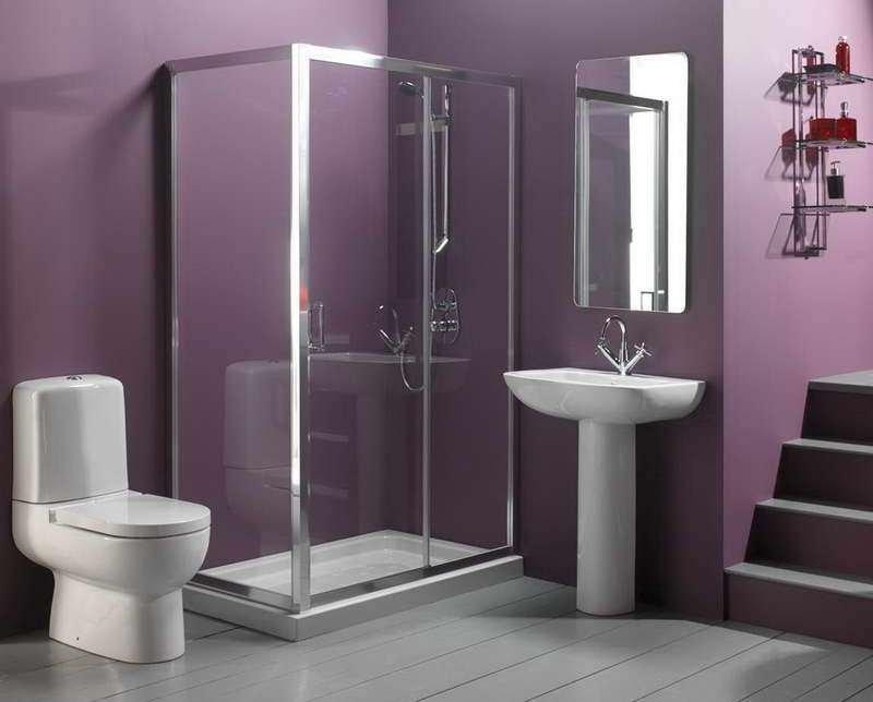 Bagno piccolo scelta colori e arredamento - Piastrelle viola bagno ...