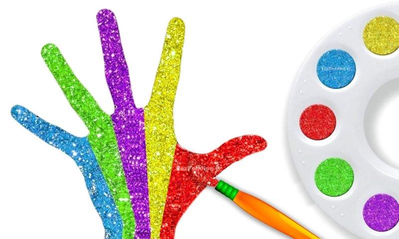couleur des-doigts-enfants-main couleurs