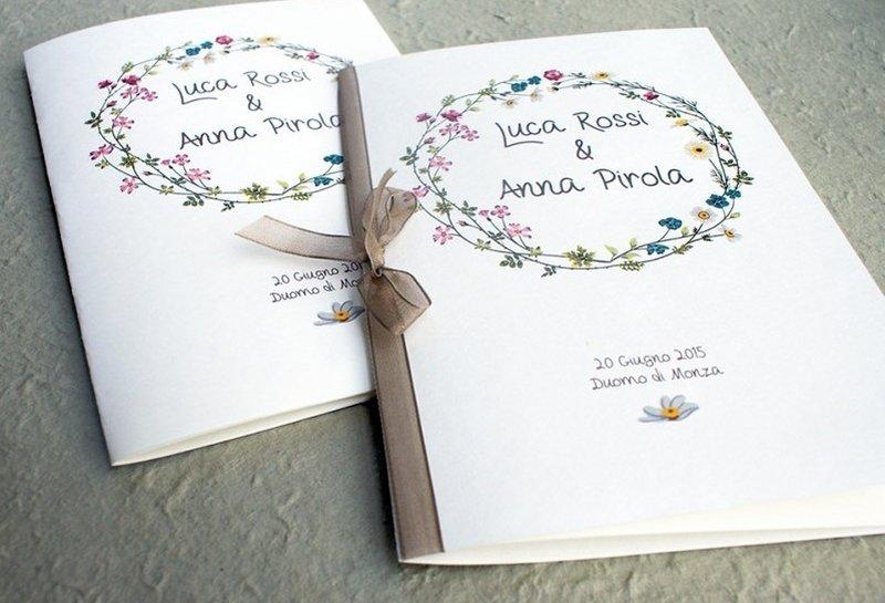 Frasi Matrimonio Libretto Chiesa.Libretti Messa Matrimonio Colori Grafica Testo